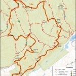 Trail Running Map of Ward Pound Ridge Reservation, Westchester, New York. 6.5 Mile Rock Trail Loop